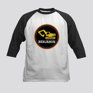 Personalized Digger Construction Truck Baseball Je