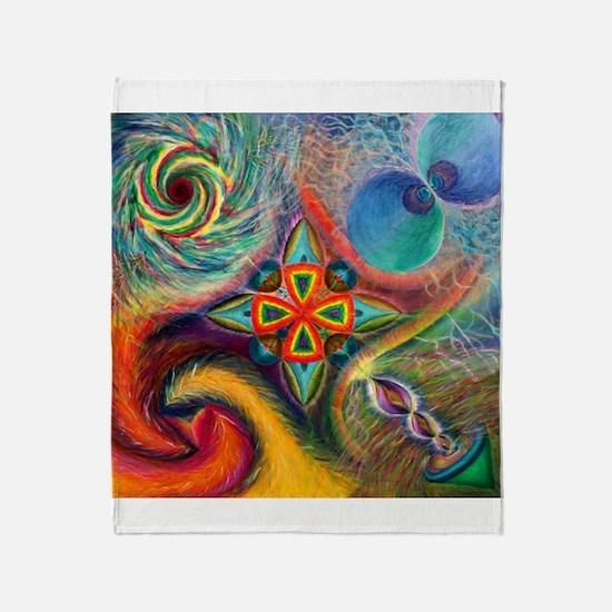Funny Medicine wheel Throw Blanket