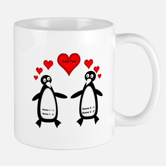 Personalized Penguins In Love Mug