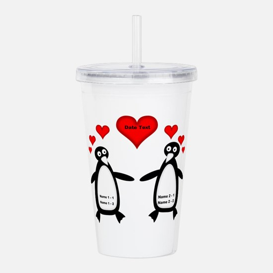 Personalized Penguins Acrylic Double-wall Tumbler