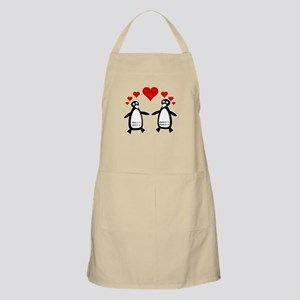 Personalized Penguins In Love Apron