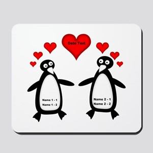 Personalized Penguins In Love Mousepad