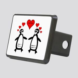 Personalized Penguins In L Rectangular Hitch Cover