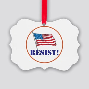 Resist! Stand up for justice Ornament