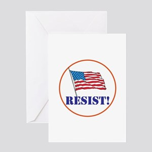Resist! Stand up for justice Greeting Cards