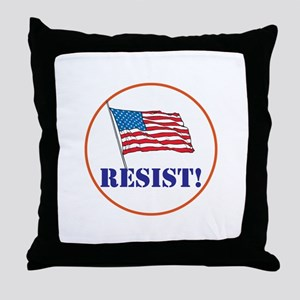Resist! Stand up for justice Throw Pillow