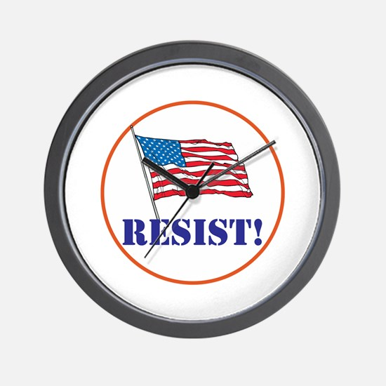 Resist! Stand up for justice Wall Clock