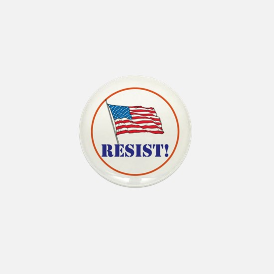 Resist! Stand up for justice Mini Button