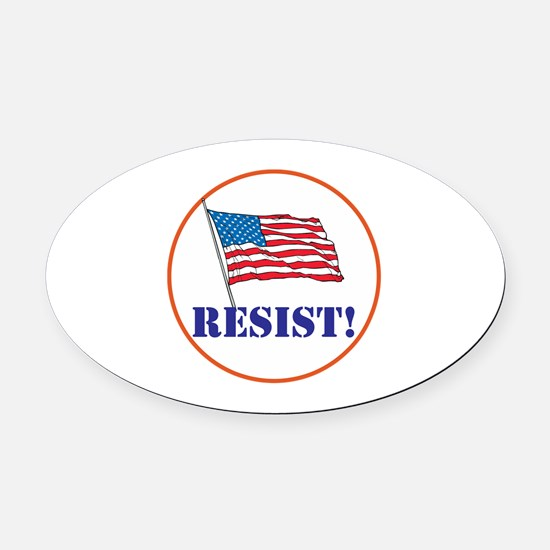 Resist! Stand up for justice Oval Car Magnet