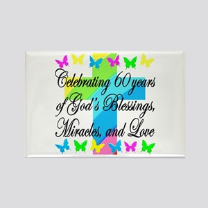BLESSED 60TH Rectangle Magnet