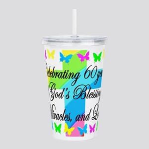 BLESSED 60TH Acrylic Double-wall Tumbler