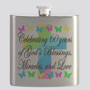 BLESSED 60TH Flask