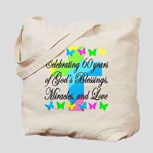 BLESSED 60TH Tote Bag