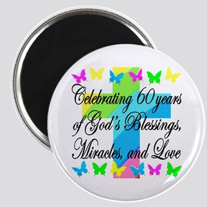 BLESSED 60TH Magnet