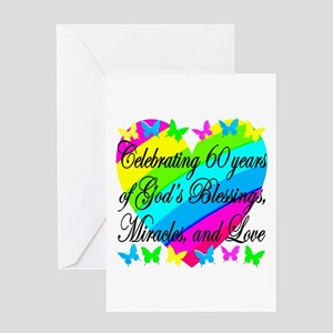 BLESSED 60TH Greeting Card