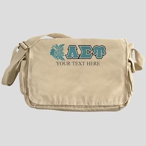 Lambda Sigma Upsilon Initials Person Messenger Bag