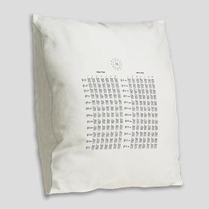Guitar Chords Burlap Throw Pillow