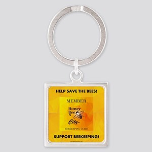 Bee Guild Square Keychain Keychains