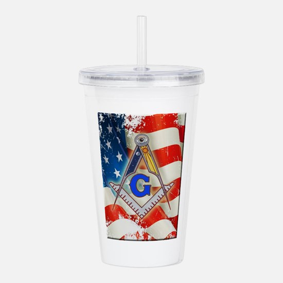 Cool Square and compasses Acrylic Double-wall Tumbler