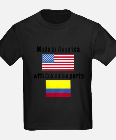 Made In America With Colombian Parts T-Shirt