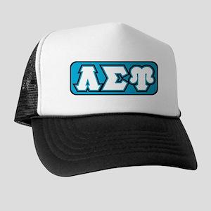 Lambda Sigma Upsilon Initials Trucker Hat