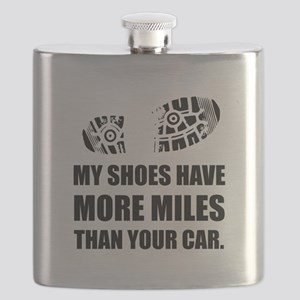 My Shoes More Miles Than Car Flask