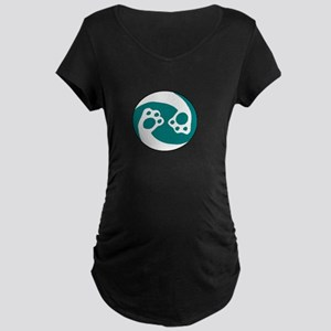 animal paws in a circle symbol - Maternity T-Shirt