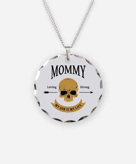 Mommy Son Skull Necklace