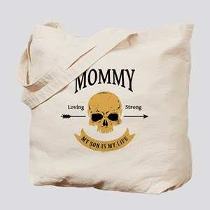 Mommy Son Skull Tote Bag