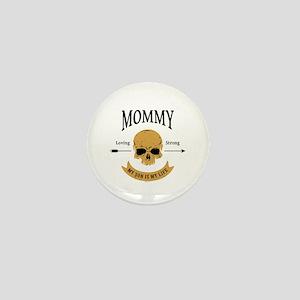 Mommy Son Skull Mini Button