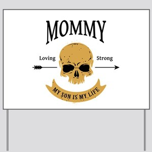 Mommy Son Skull Yard Sign