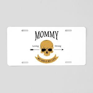 Mommy Son Skull Aluminum License Plate