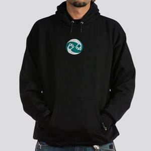 animal paws in a circle symbol - aqua Sweatshirt