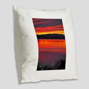 Just Breathe Cool Relax Inspir Burlap Throw Pillow
