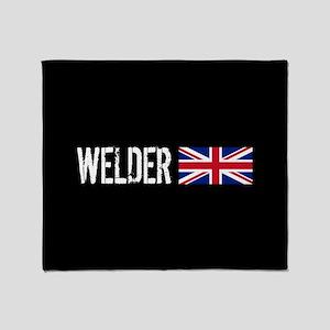 Welding: Welder (British Flag) Throw Blanket
