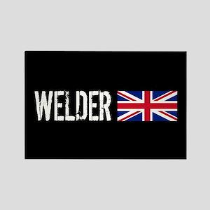 Welding: Welder (British Flag) Rectangle Magnet