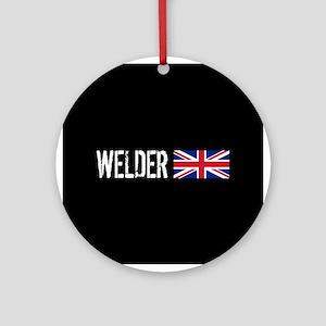 Welding: Welder (British Flag) Round Ornament