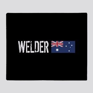 Welding: Welder (Australian Flag) Throw Blanket