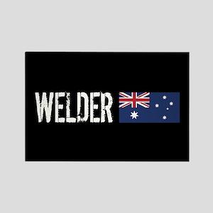 Welding: Welder (Australian Flag) Rectangle Magnet