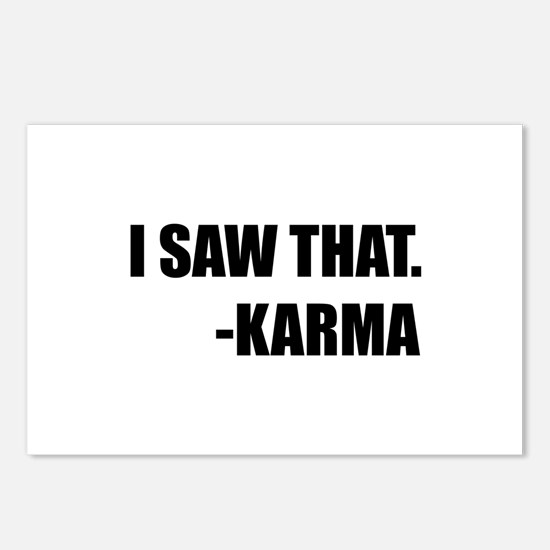 I Saw That Karma Postcards (Package of 8)