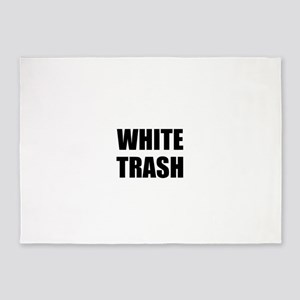 White Trash 5'x7'Area Rug