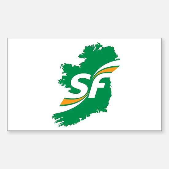 Sinn Fein Logo Sticker (Rectangle)