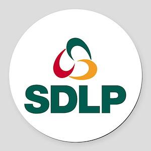 SDLP Logo Round Car Magnet