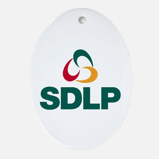 SDLP Logo Oval Ornament