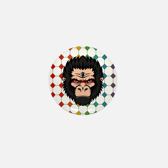Third Eye Gorilla Mini Button