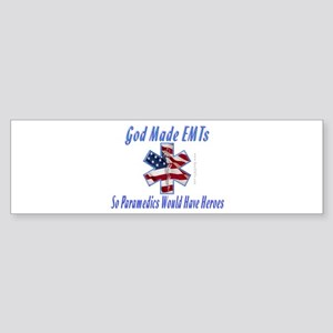 God Made EMTs Gifts Bumper Sticker