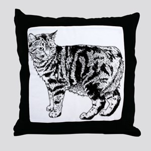 Manx Cat Throw Pillow