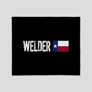 Welding: Welder (Texas Flag) Throw Blanket