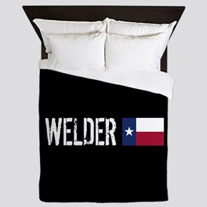 Welding: Welder (Texas Flag) Queen Duvet