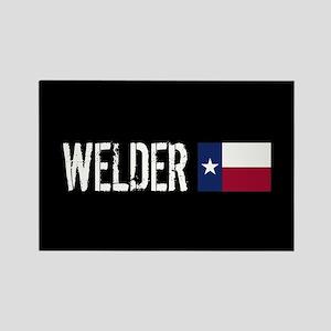 Welding: Welder (Texas Flag) Rectangle Magnet